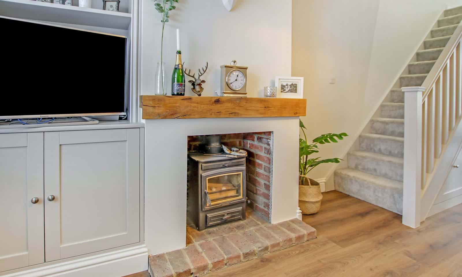 fireplace with Log Burner
