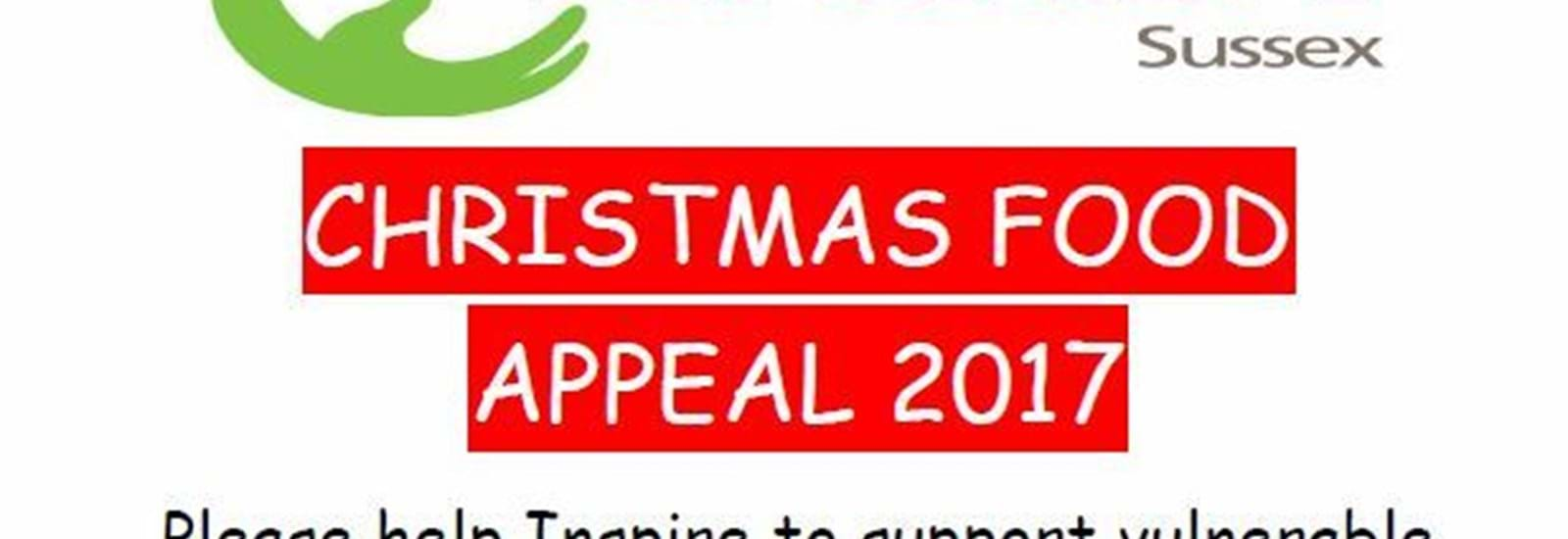 Banner for Christmas Food Appeal 2017